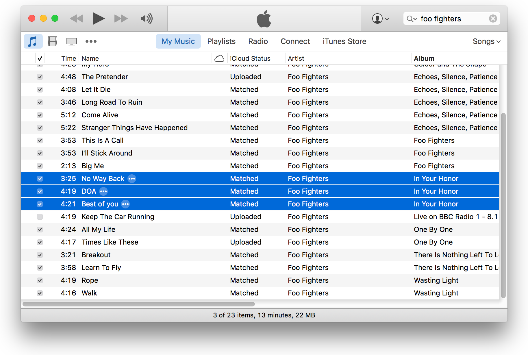 Fix for same album or artist showing twice in iTunes